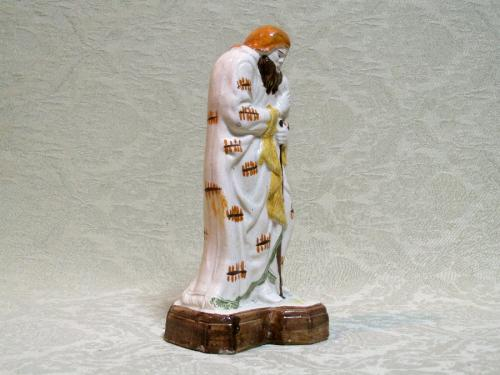 Good classical prattware figure Staffordshire c.1800